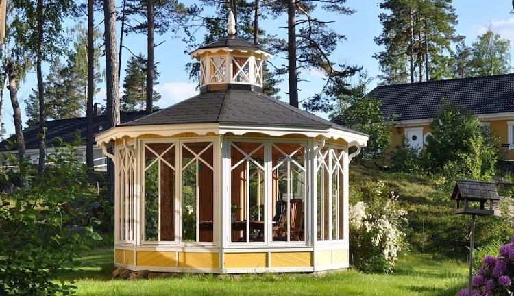 pawilon ogrodowy w stylu skandynawskim