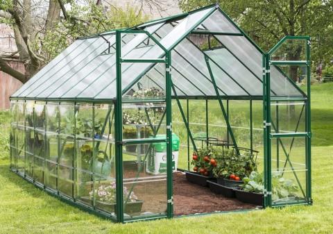 zielona szklarnia ogrodowa