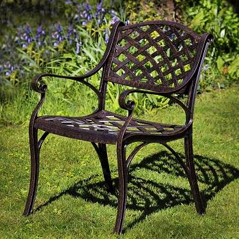 krzesło ogrodowe z aluminium