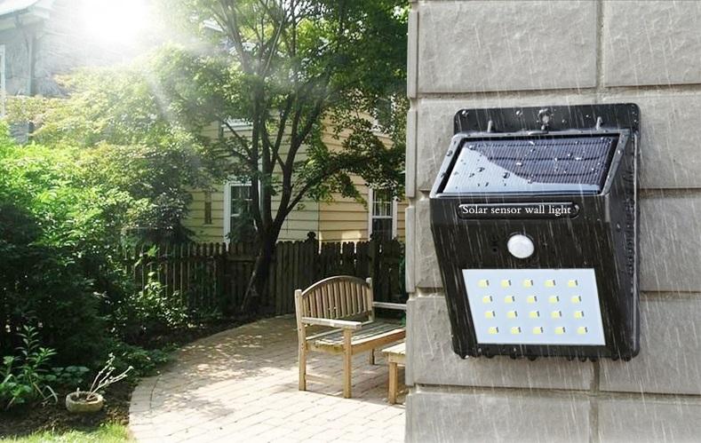 System ogrodowych lamp solarnych z czujnikiem ruchu. Fotografia: cukii.com.